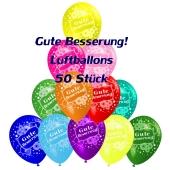 Motiv-Luftballons gute Besserung, bunt, 50 Stueck