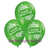Motiv-Luftballons gute Besserung, apfelgruen, 3 Stueck