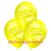 Motiv-Luftballons gute Besserung, gelb, 3 Stueck