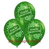 Motiv-Luftballons gute Besserung, gruen, 3 Stueck