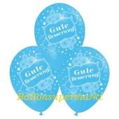 Motiv-Luftballons gute Besserung, himmelblau, 3 Stueck