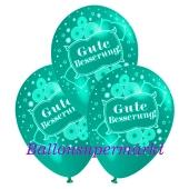 Motiv-Luftballons gute Besserung, mintgruen, 3 Stueck