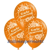 Motiv-Luftballons gute Besserung, orange, 3 Stueck