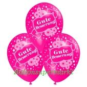Motiv-Luftballons gute Besserung, pink, 3 Stueck