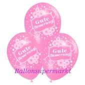 Motiv-Luftballons gute Besserung, rosa, 3 Stueck