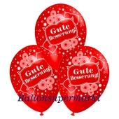 Motiv-Luftballons gute Besserung, rot, 3 Stueck