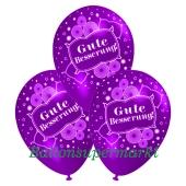 Motiv-Luftballons gute Besserung, violett, 3 Stueck