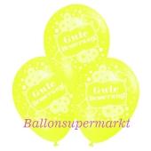 Motiv-Luftballons gute Besserung, zitronengelb, 3 Stueck