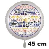 Partygeschenk, Partykracher, Silvester-Luftballon 45 cm Guten Rutsch