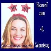 Geburtstagsparty-Dekoration zum 40. Haarreif Zahl 40 zum 40. Geburtstag
