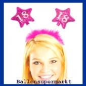 Geburtstagsparty-Dekoration zum 18. Haarreif Zahl 18 zum 18. Geburtstag