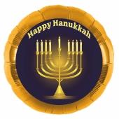 Hanukkah Luftballon in Gold inklusive Helium