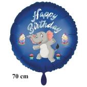 Happy Birthday großer Elefant Kindergeburtstag Luftballon mit Helium