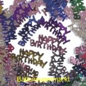 Happy Birthday Geburtstags-Konfetti, Tischdekoration und Streudekoration zum Geburtstag