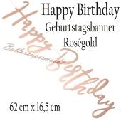 Geburtstagsbanner in Rose Gold