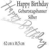 Geburtstagsbanner in Silber