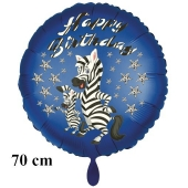 Happy Birthday Zebra Kindergeburtstag großer Luftballon mit Helium
