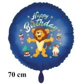 Happy Birthday großer Löwe Kindergeburtstag Luftballon mit Helium