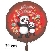 Happy Birthday großer  Panda Bären Kindergeburtstag Luftballon mit Helium
