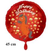 Happy Birthday Pferd Kindergeburtstag Luftballon mit Helium