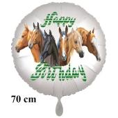 Happy Birthday Pferde Kindergeburtstag Luftballon mit Helium