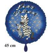 Happy Birthday Zebra Kindergeburtstag Luftballon mit Helium