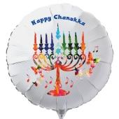 Chanukkah Luftballon in Weiß inklusive Helium