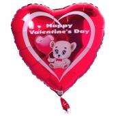 Happy Valentines Day, Luftballon mit Ballongas-Helium zum Valentinstag