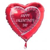 Happy Valentine's Day Luftballon aus Folie mit Helium zum Valentinstag