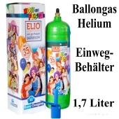 Helium Ballongas Einweg-Behälter 1,7 Liter