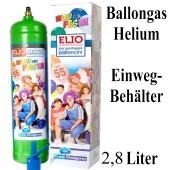 Helium Ballongas Einweg-Behälter 2,8 Liter