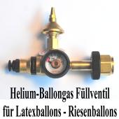 Ballongas Helium Füllventil für Latexballons, Riesenballons