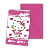 Hello Kitty Einladungskarten zum Kindergeburtstag