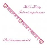 Hello Kitty Geburtstagsbanner zum Kindergeburstag