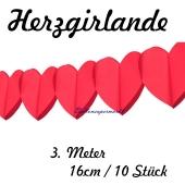 Herzgirlande-Rot-16cm