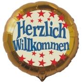 Herzlich-Willkommen-Luftballon-aus-Folie-ohne-Helium-Gold