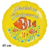 Herzlichen Glückwunsch Clownfisch Kindergeburtstag Luftballon mit Helium