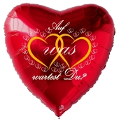 Herzluftballon in Rot zum Heiratsantrag. Auf was wartest Du?