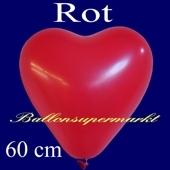 Herzluftballon 60 cm, rot