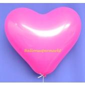 Herzluftballon 40-45 cm Pink Pastell, Hot Pink, Telekom Pink