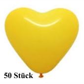 Herzluftballons Gelb 8-12 cm, 50 Stück