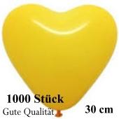 Herzluftballons Gelb, Gute Qualität, 1000 Stück, 30 cm