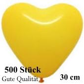 Herzluftballons Gelb, Gute Qualität, 500 Stück, 30 cm