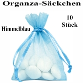 Organza-Beutel Himmelblau für Taufmandeln oder Hochzeitsmandeln