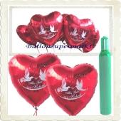 Hochzeit Ballons Helium Set: 100 Luftballons Alles Gute zur Hochzeit