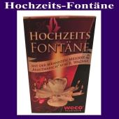 Hochzeits-Fontäne, Feuerwerk mit dem Brautmarsch zur Hochzeitsfeier