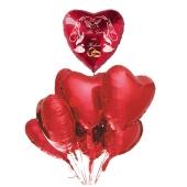 Hochzeits-Bouquet Alles Gute zur Hochzeit, Luftballons aus Folie mit Ballongas-Helium zur Hochzeit, Hochzeitsdekoration