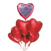 Hochzeits-Bouquet Glückwünsche zur Hochzeit, Luftballons aus Folie mit Ballongas-Helium zur Hochzeit, Hochzeitsdekoration