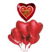 Hochzeits-Bouquet Herzliche Glückwünsche, Luftballons aus Folie mit Ballongas-Helium zur Hochzeit, Hochzeitsdekoration