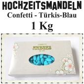 Hochzeitsmandeln Confetti, Türkis-Blau